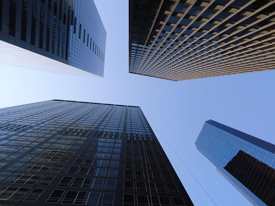 Cuatro rascacielos